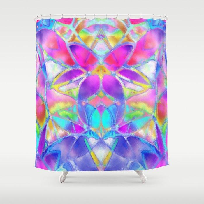 Floral Fractal Art G307 Shower Curtain
