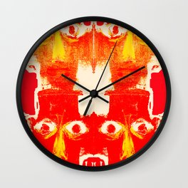 four heads and eight eyes Wall Clock