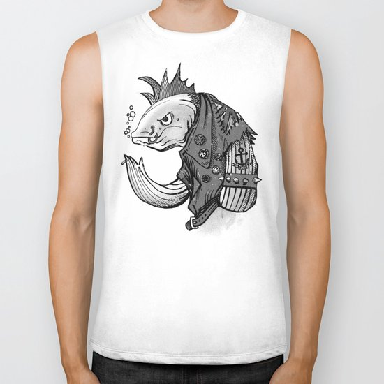 Punk Fish Biker Tank