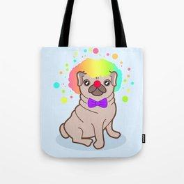 Pug dog in a clown costume Tote Bag