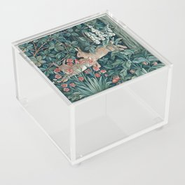 William Morris Forest Rabbits and Foxglove Acrylic Box