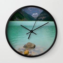 Rainy Day on Lake Louise Wall Clock