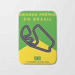 My F1 Interlagos Track Minimal Poster Bath Mat