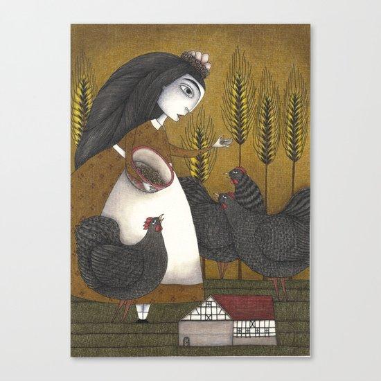 Ira's Hens Canvas Print