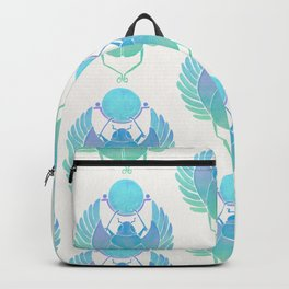 Egyptian Scarab – Turquoise Ombré Backpack