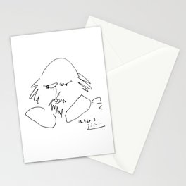 Pablo Picasso William Shakespeare 1946 Portrait, Line Drawing Artwork Reproduction For TShirt, Frame Stationery Cards