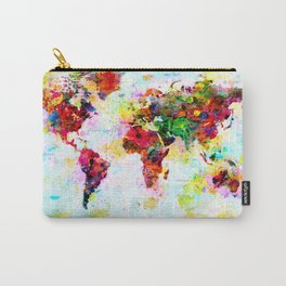 World Map - 4 Carry-All Pouch