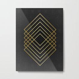 Golden squares Metal Print