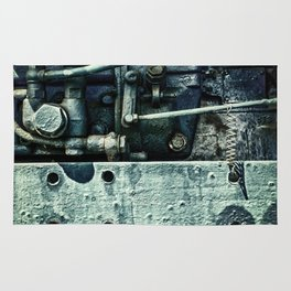 Engine Block Inner Workings Rug