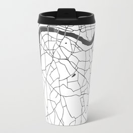 London White on Gray Street Map Travel Mug