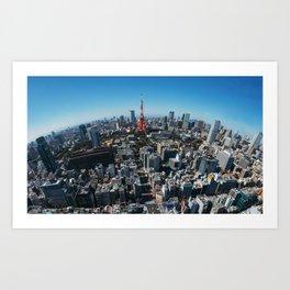Tokyo Birdseye Art Print