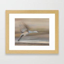 Crane in Motion Framed Art Print