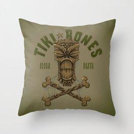 Tiki Bones Throw Pillow