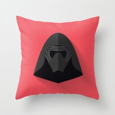 Kylo Ren Flat Design Throw Pillow