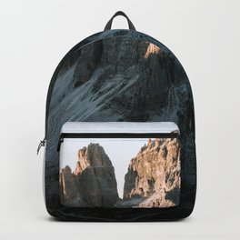 Tre Cime in the Dolomites Mountains at dusk - Landscape Photography Backpack