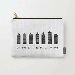 Amsterdam Print Architecture House Holland Art City Print City Skyline Travel Nordic Home Wall Decor Carry-All Pouch