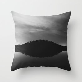 Black of Night Throw Pillow