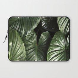 dark green jungle rainforest tropical leaf Laptop Sleeve