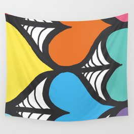 Rainbow Clubs Wall Tapestry
