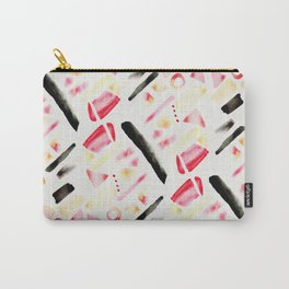 Watercolor Pattern Play in Sunset Carry-All Pouch