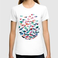 pink floyd T-shirts featuring Heart Connections - watercolor painting by micklyn