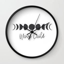 Moon Child Wall Clock