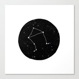 Libra minimal constellation star sign zodiac art print Canvas Print
