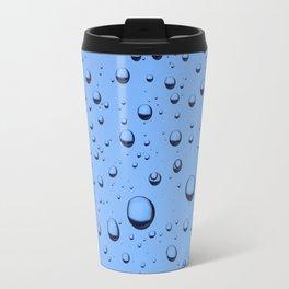 Blue Water Bubbles Travel Mug