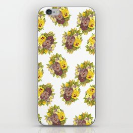 Butter Yellow Pansies Pattern iPhone Skin