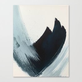 Like A Gentle Hurricane: a minimal, abstract piece in blues and white by Alyssa Hamilton Art Canvas Print