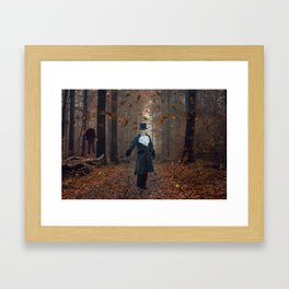 Don't lose your head. Framed Art Print