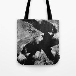 Lion B&W Tote Bag