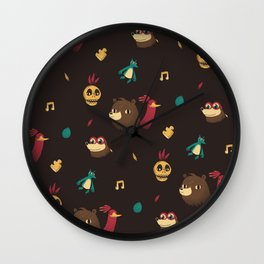 banjo pattern Wall Clock