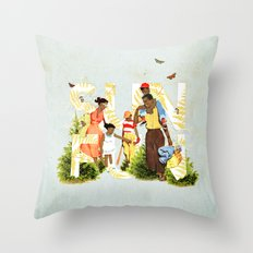 Sun Fun II Throw Pillow