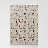 calcifer Stationery Cards featuring cats II by ururuty