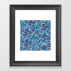Exactly Where They'd Fall (Floral Pattern) Framed Art Print