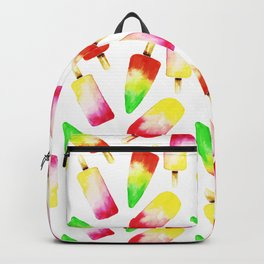 Colorful Watercolor Popsicle Pattern Backpack