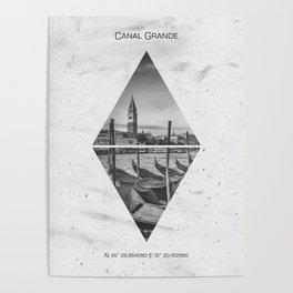 Coordinates VENICE Grand Canal Poster