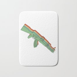 Vintage Retro AK-47 Rifle 2nd Amendment Gun Gift Gun Rights Bath Mat
