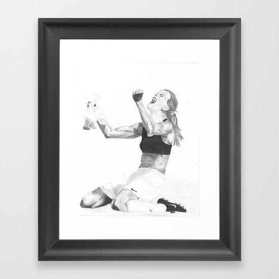Brandi Chastain Framed Art Print