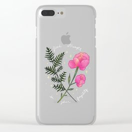 Find strength in your fragility Clear iPhone Case