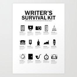 Writer's Survival Kit Art Print