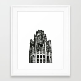 Triptych 3 - Tribune Tower - Original Drawing Framed Art Print