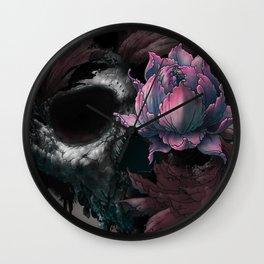 Death Blooms Wall Clock