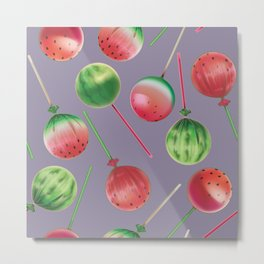 Sweet Party Mix │Watermelon Lollipops Metal Print