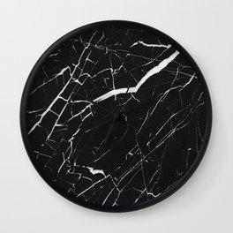 Marble Black Simple  Wall Clock