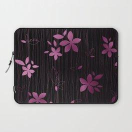Colorful Art Deco Pink Flower Pattern Laptop Sleeve
