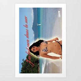 Carte Postale - J'ai fait caca dans la mer Art Print