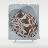 shells Shower Curtains featuring Shells by Marjolein