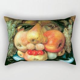 """Giuseppe Arcimboldo """"Fruit basket"""" Rectangular Pillow"""